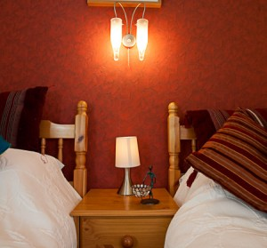 Twin room at Moray holiday cottage